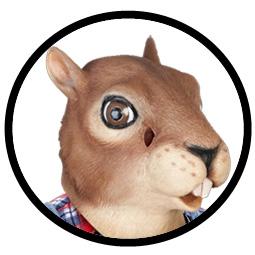 Eichhörnchenmaske Archie McPhee - Klicken für grössere Ansicht