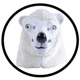 Eisbär Maske Erwachsene - Klicken für grössere Ansicht