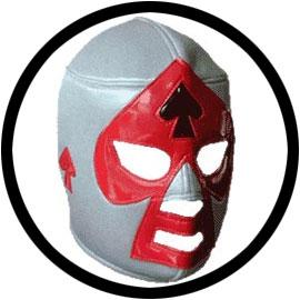 Lucha Libre Maske - Grey-Black-Red - Klicken für grössere Ansicht