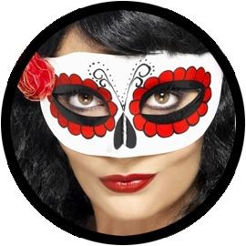 Mexikanische Augenmaske - Day of the Dead - Klicken für grössere Ansicht