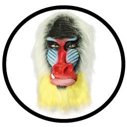 Pavian Maske Mandrill Bunt - Klicken f�r gr�ssere Ansicht
