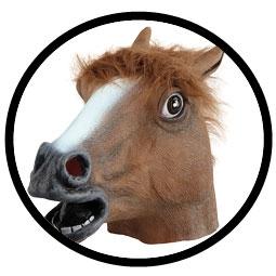 Pferd Maske Braun - Klicken für grössere Ansicht