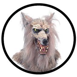 Wolfmaske Deluxe Erwachsene - Klicken für grössere Ansicht