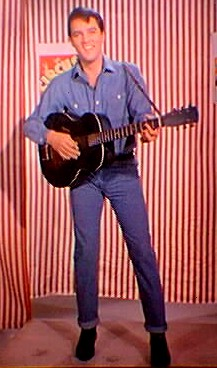 Elvis Presley - With Guitar, in Jeans Outfit