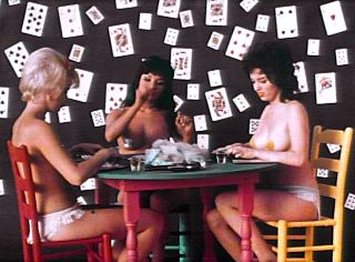 Poker Playing Trio from Wild Gals of the Naked West