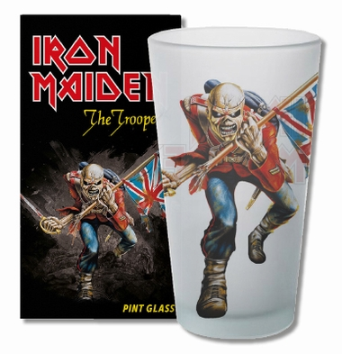 Pint Glas Iron Maiden Trooper - Frosted