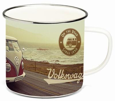 VW BULLI Emaille Tasse - Vintage