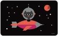 1 x FRÜHSTÜCKSBRETTCHEN - INGELA - SPACE CAT