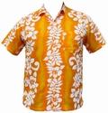 6 x HAWAII HEMD - CLASSIC FLOWER - GELB