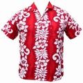 7 x HAWAII HEMD CLASSIC FLOWER - ROT