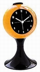 Lunar Retro Wecker - black/yellow