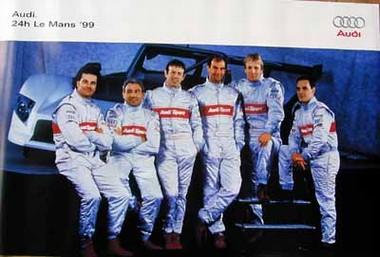 Original Audi Sport Poster. Le Mans 1999. Motorsport