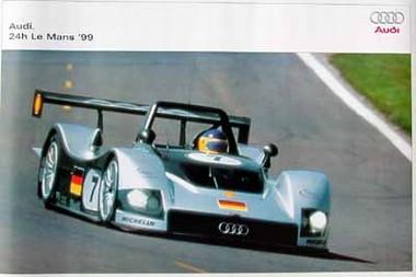 Original Audi Sport Poster. Le Mans 1999