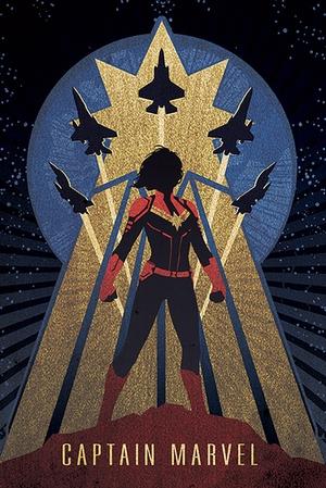 Captain Marvel Poster Art Deco