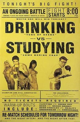 Drinking vs. Studying