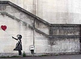 Banksy Poster Hope Kleinformat