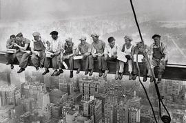 Eating Above Manhattan - New York Poster