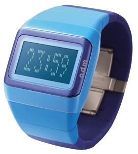 Link Uhr  hellbau - dunkelblau