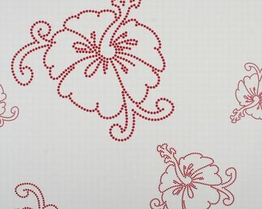 Tapete - Contzen - Hibiscus Rot