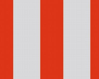 Tapete - Streifen - Grau - Rot