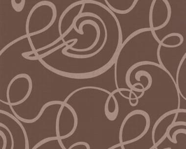Tapete - Flock II - Braun - Curls