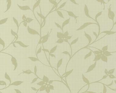 Tapete - Flock II - Lindgrün - Floral
