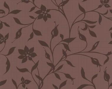 Tapete - Flock II - Braun - Floral