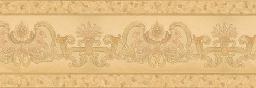 Tapete - Hermitage VI - Palmier Bordüre Gold