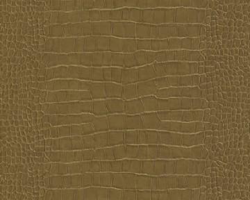 Tapete - Krokodil - Schlangenhaut  Gold