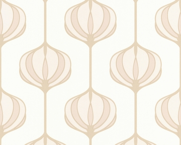 Tapete - Smile - Retro Flower beige