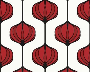 shopping tapeten tapete smile retro flower rot. Black Bedroom Furniture Sets. Home Design Ideas