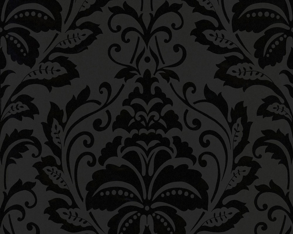 tapete flock iii baroque schwarz flock iii retro. Black Bedroom Furniture Sets. Home Design Ideas