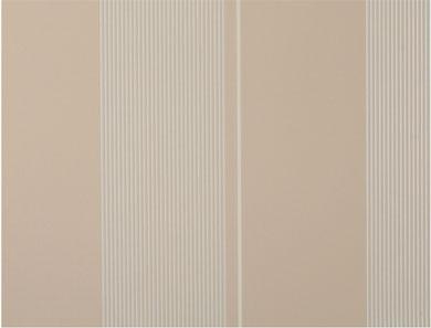 Tapete - Flock - beige weiss - Streifen