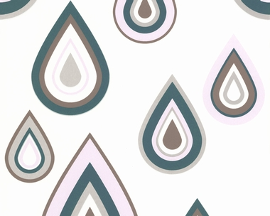 Tapete - Contzen 3 - Pretty Drips - Blau