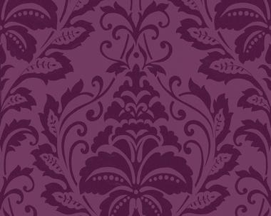 Tapete - Flock III - Baroque - Violett