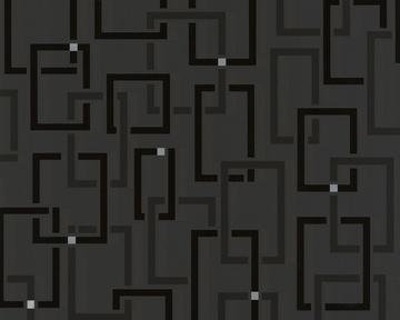 Tapete - Spot - Square Schwarz