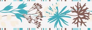 Tapete - Springtime 3 - Bordüre Blau