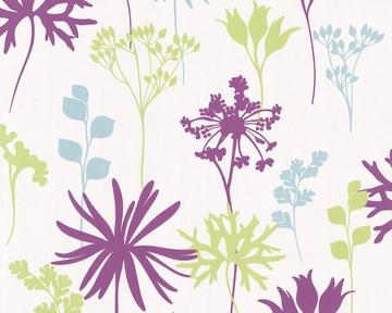 Tapete - Springtime 3 - Flowers - Grün