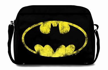 Logoshirt - Batman Tasche Street Bag - Schwarz - Fake Leather