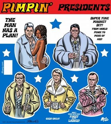Pimpin Presidents Magnet Set