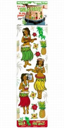 Temp Tattoo - Hula Party