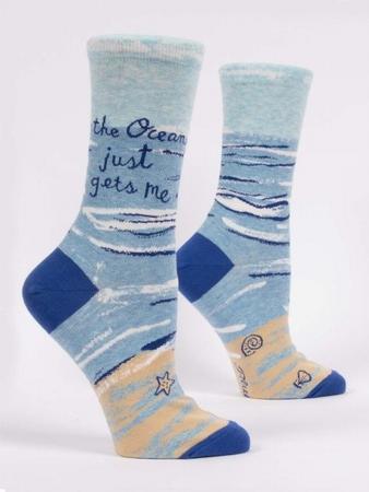 Damensocken Blue Q - The Ocean Just Gets Me