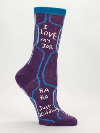 Damensocken Blue Q - I Love My Job