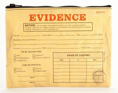 Evidence Zipper Tasche