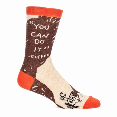 Herrensocken Blue Q - You Can Do It - Coffee