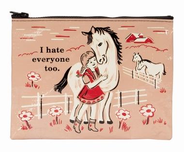 Zipper Tasche - I Hate Everyone Too