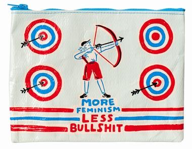 Zipper Tasche - More Feminism Less Bullshit